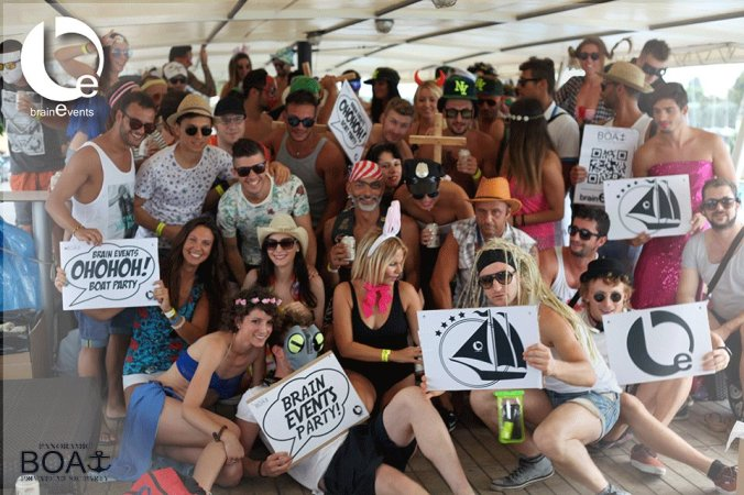 Panoramic Boat luglio 2015, privat party Brain Events